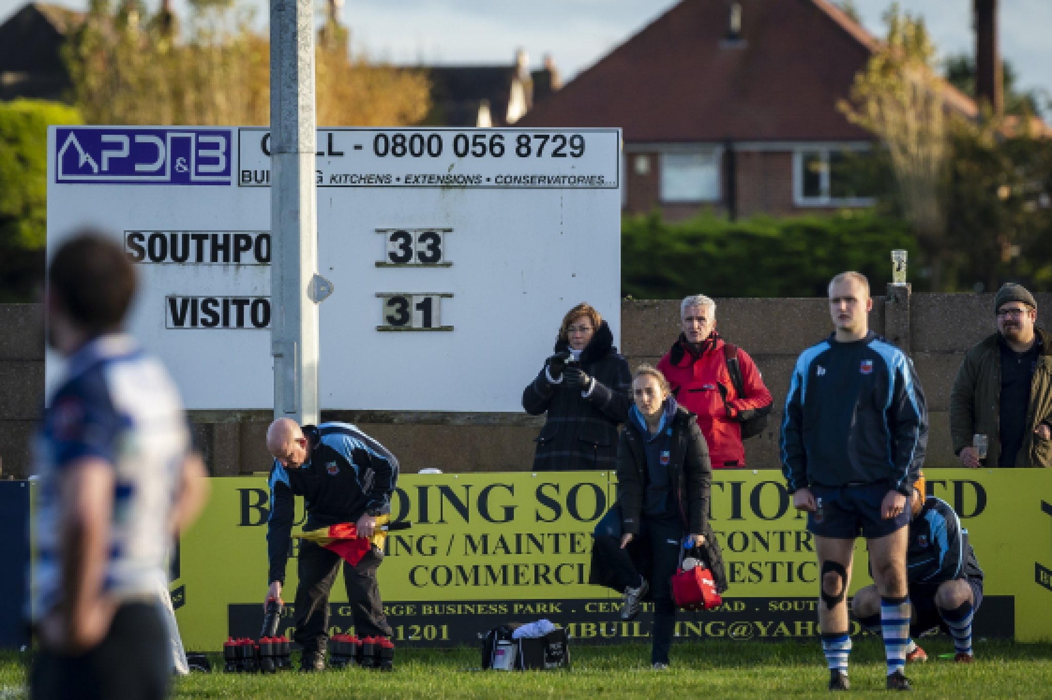 The old digital scoreboard at Southport Rugby Football Club