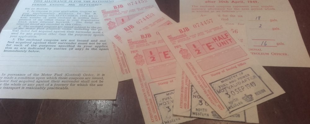 Broadhursts Bookshop in Southport discovers rare 1940s petrol coupons