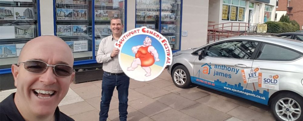 Anthony James Estate Agents sponsors Southport Comedy Festival 2021