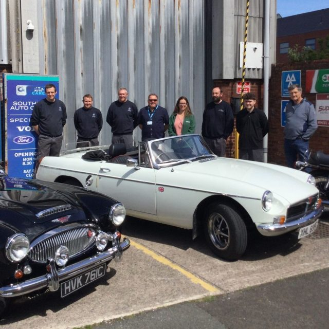 Southport Auto Centre stages classic car and motorcycle display for Macmillan Cancer Support