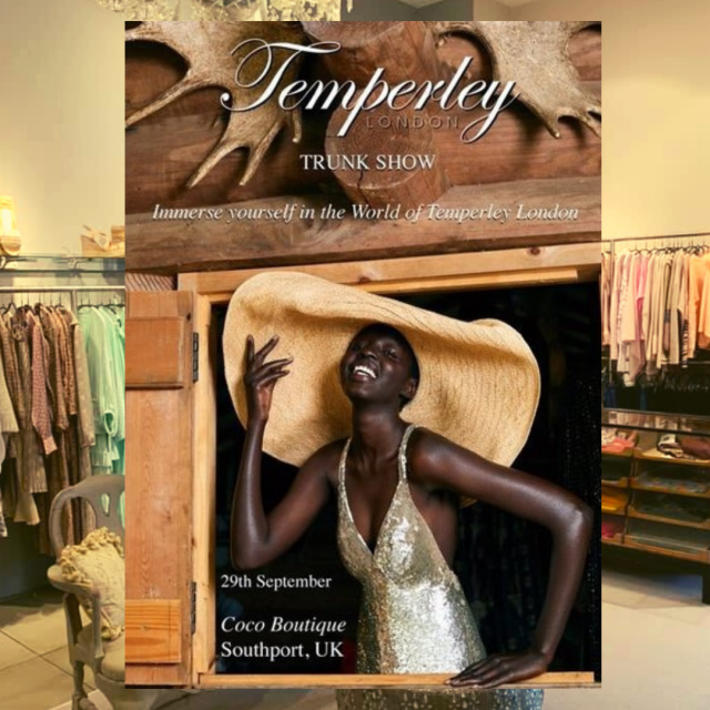 Temperley London, adorned by Kate Middleton, Madonna and Beyoncé, hosts Trunk Show at Coco Boutique in Southport